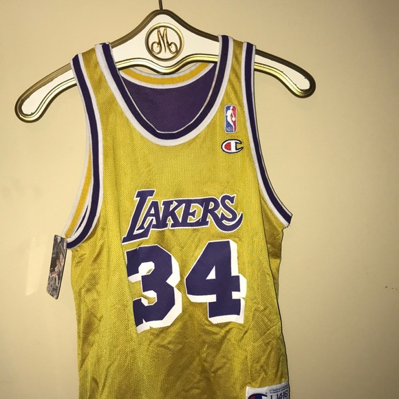 separation shoes a1956 bf5bd Throwback SHAQ Lakers Jersey
